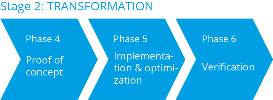 Digital strategy consulting - Stage 2: Transformation